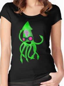 Nuclear Rave Squid Women's Fitted Scoop T-Shirt