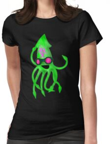 Nuclear Rave Squid Womens Fitted T-Shirt