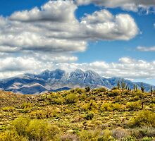 A Dusting of Snow on Four Peaks  by Saija  Lehtonen