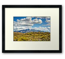 A Dusting of Snow on Four Peaks  Framed Print