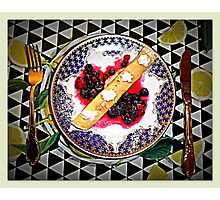 Lemon Curd Pancakes with Blueberries  Photographic Print