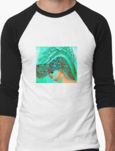 face-Bird woman Men's Baseball ¾ T-Shirt
