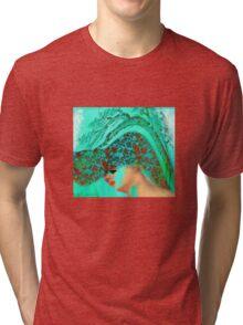 face-Bird woman Tri-blend T-Shirt