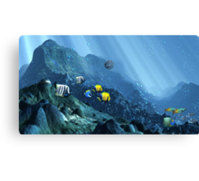 Search for Lost Atlantis Canvas Print
