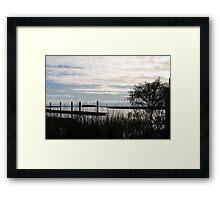 Dusk on the Marsh Framed Print