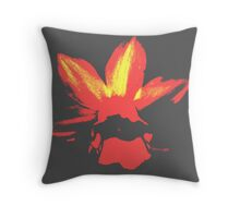 Red hot daff Throw Pillow
