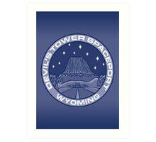 Devil's Tower Spaceport Art Print