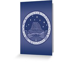 Devil's Tower Spaceport Greeting Card