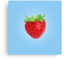 Simple Cute Strawberry Canvas Print