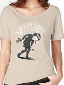 Wednesday Hates The World Women's Relaxed Fit T-Shirt