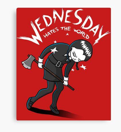 Wednesday Hates The World Canvas Print