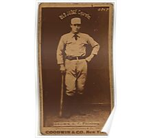 Benjamin K Edwards Collection Tom Brown Pittsburgh Alleghenys baseball card portrait 001 Poster