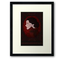 Crimson Peak - Love Makes Monsters of Us All Framed Print