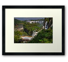 Rainbow and Falls Framed Print