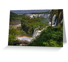 Rainbow and Falls Greeting Card