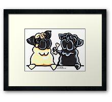 Bone to Pug Framed Print