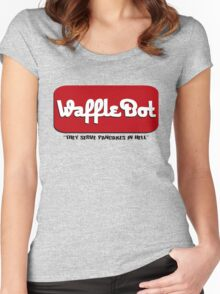 "Waffle Bot ""They Serve Pancakes in Hell"" Women's Fitted Scoop T-Shirt"