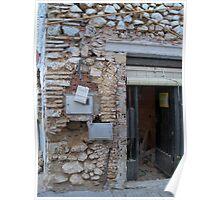 Restoration of a ruin. Poster