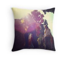 Haybale Rolling Festival Throw Pillow