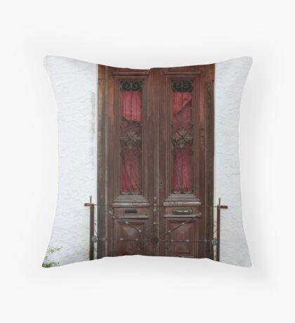 Old Wood Door Throw Pillow