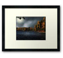 Metal Bridge in Moonlight Framed Print
