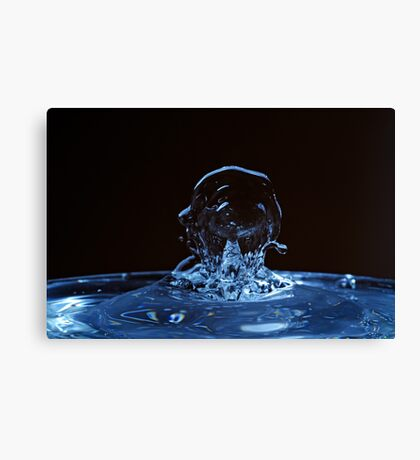Splashing Water Droplet shaping human profile Canvas Print