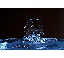 Splashing Water Droplet shaping human profile Photographic Print