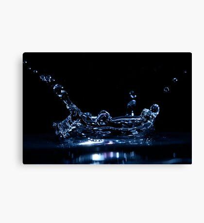 Splashing Water Droplet Canvas Print