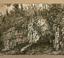 The Cliff. by Guennadi Kalinine