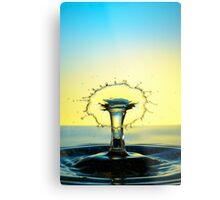 Splashing Water Droplet Metal Print