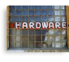 Vintage Hardware Sign Canvas Print