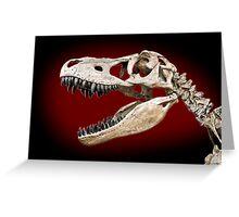 T Rex skull Greeting Card