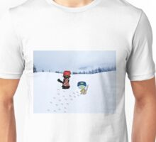 Two Cats With Winter Wear Unisex T-Shirt