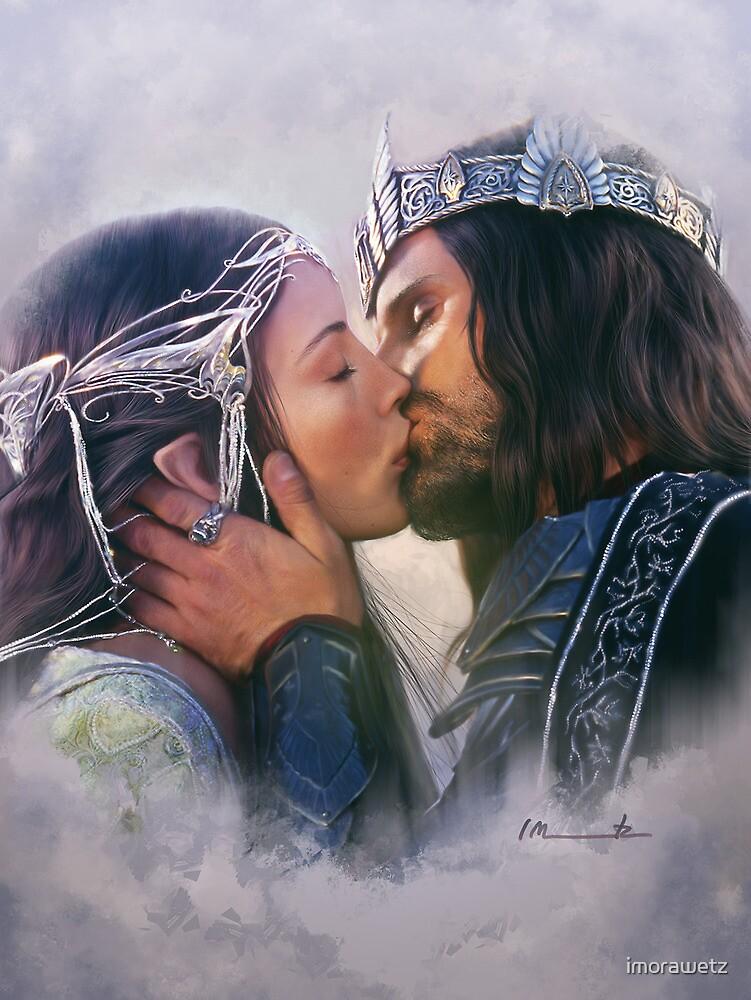 Arwen and Aragorn by imorawetz