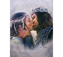 Arwen and Aragorn Photographic Print