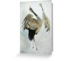 The Dance of the Cranes - 2 of 2 Greeting Card