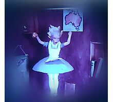 Alice Falling Down the Rabbit Hole. Photographic Print