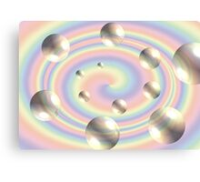 Spiral Bubbles Canvas Print