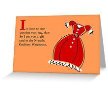 Birthday Card--Nympho Greeting Card