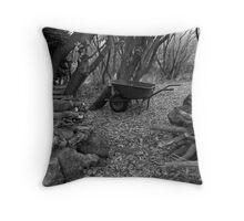 Wheel Barrow Throw Pillow