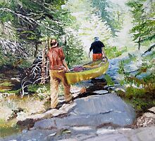 Portage to Bartlett from Tom Thomson Lake, Algonquin Park, Canada by P. Leslie Aldridge