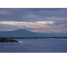 Sugar Loaf and frozen pond Photographic Print