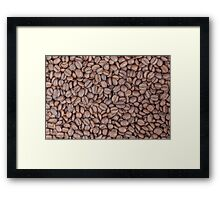Coffee beans texture Framed Print