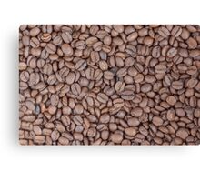 Coffee beans texture Canvas Print