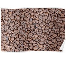 Coffee beans texture Poster
