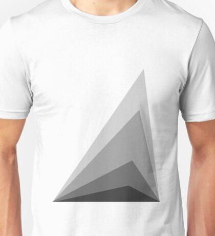 Greyscale abstract digital design Unisex T-Shirt