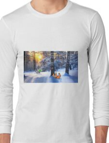 Cats Play Hide And Seek Long Sleeve T-Shirt