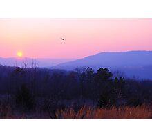 Smok'en Sunset Photographic Print