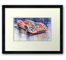 Porsche 917K Winning Le Mans 1970 Framed Print