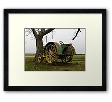 Deere On The Prairie Framed Print